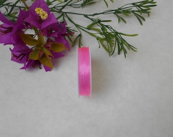 Roll 10 meters - 0.6 mm nylon elastic threads - pink