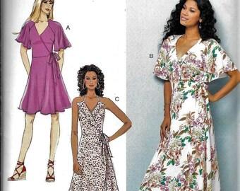 Butterick BP328 / B6554 Easy Summer WRAP DRESS Sewing Pattern UNCUT Size 6, 8, 10, 12, 14