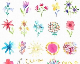 Watercolor Design Tiny Flowers Arrows Body Temporary Tattoo -Jewellery Tattoo - Back Tattoo - Wrist Ankle Shoulder Tattoo