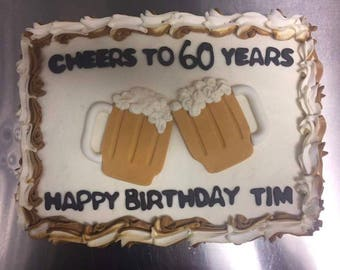 Fondant Beer Cake Toppers