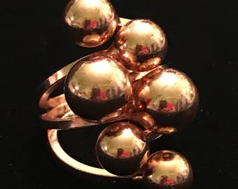 Modernist Bright and Bold Copper Ring Size 8.5