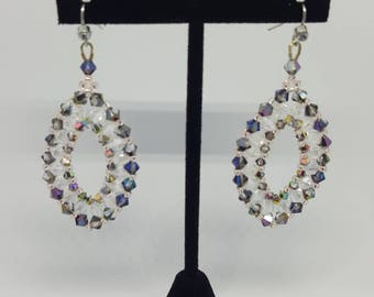 prom crystal earring