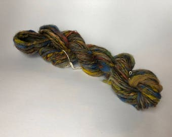 OOAK Patchouli Handspun Thick and Thin Single Yarn Mini Skein