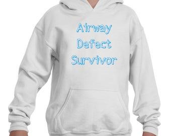 Airway Defect Survivor Tracheomalacia Laryngomalacia Kids' Youth Hoodie Sweatshirt - Choose Color
