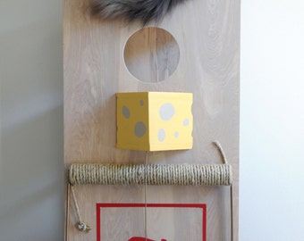 Mousetrap cat tower