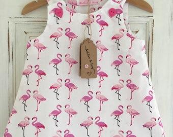 dresses, girls dresses, baby girls dresses, party dresses, flamingo dress, flamingoes, girls clothing, baby girls clothing, girls fashion,