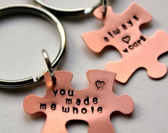 Puzzle piece Keychain, Valentines For Him, Puzzle Piece Keychain,  Gift For Boyfriend , Romantic Valentine, Valentines Day, Sexy Valentines