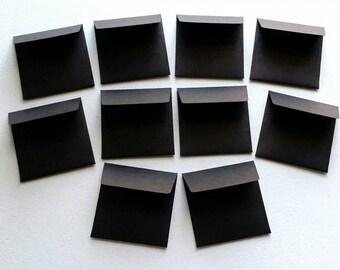 """10 Handmade Black 2 1/4"""" Mini Cash Tip Envelopes / Mini Envelopes / Black Envelopes / Small Black Envelopes / Tip Envelopes / Cash Envelopes"""