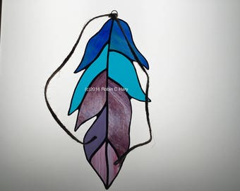 Feather Suncatcher in Stained Glass