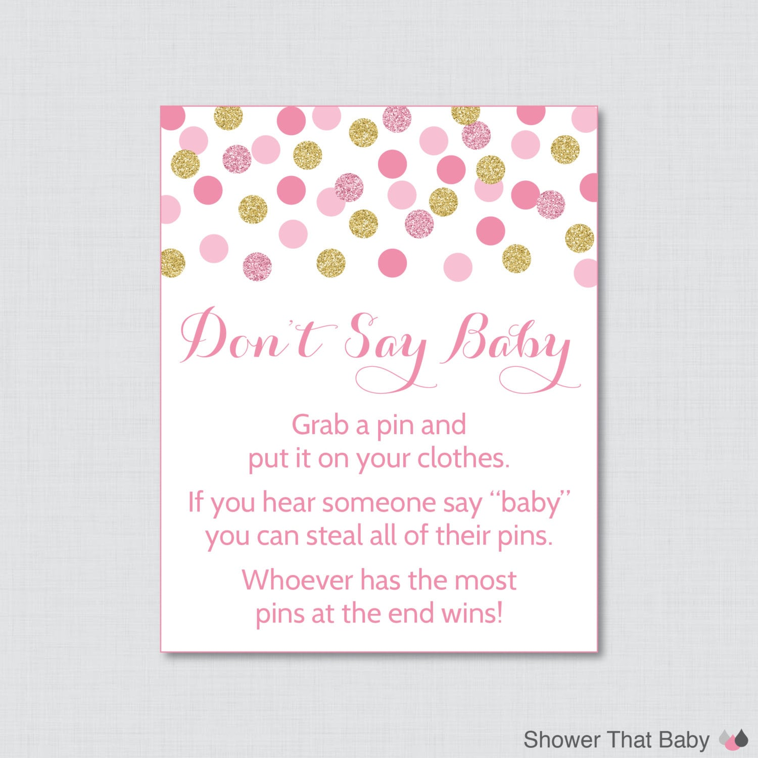 Wild image regarding don t say baby free printable