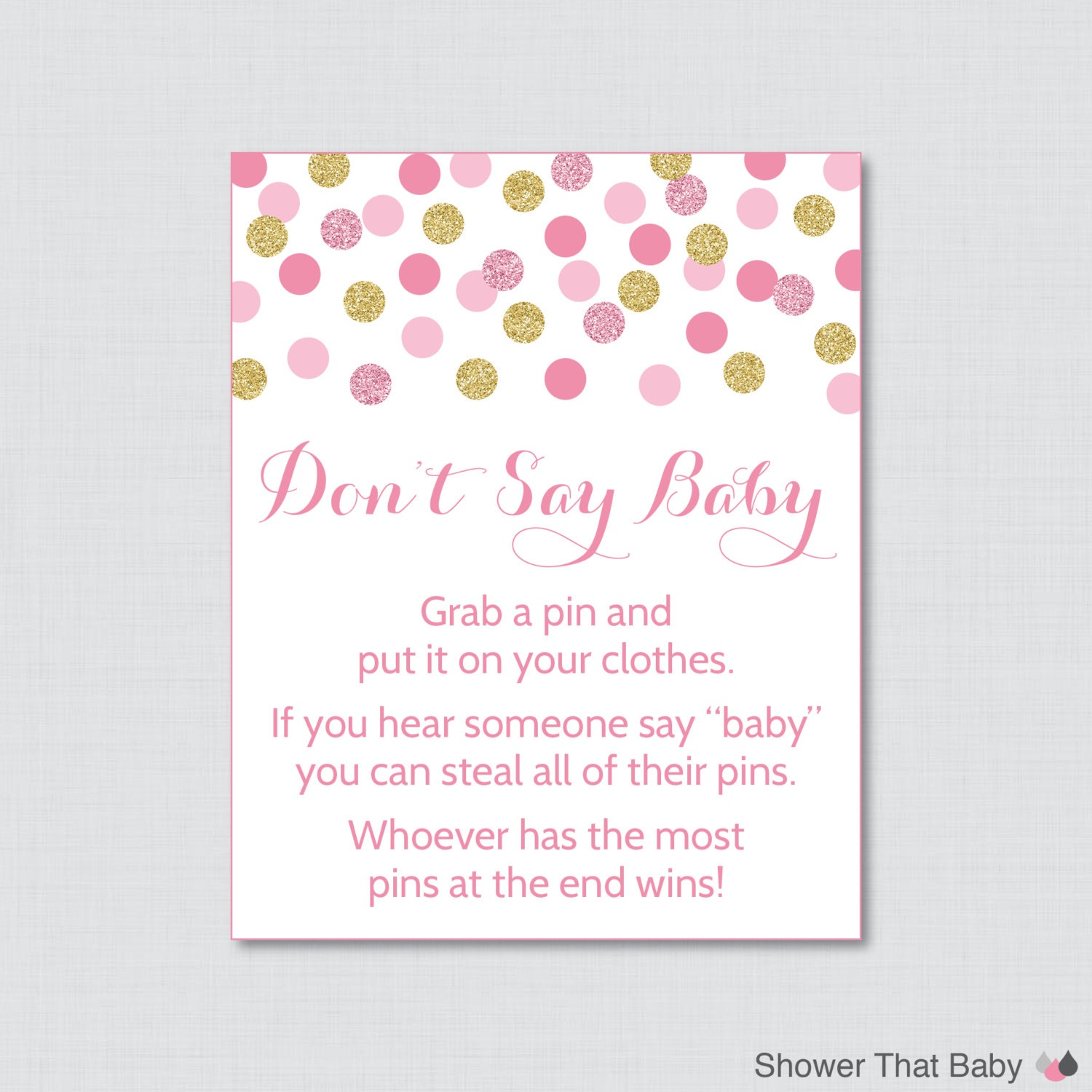 Punchy image for don t say baby free printable