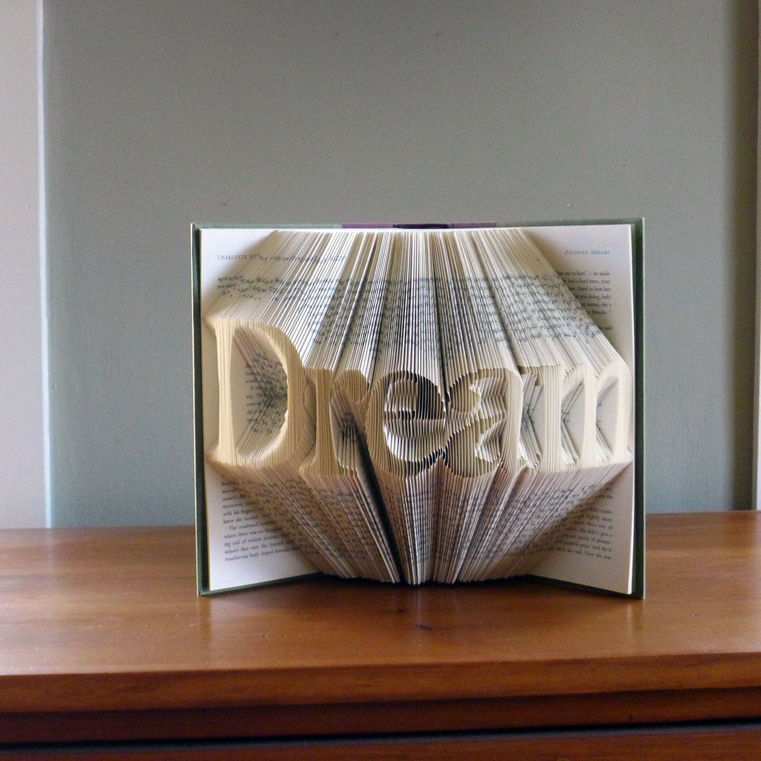 Unique Gifts: Unique Gifts / Present Dream Custom Folded Book Art