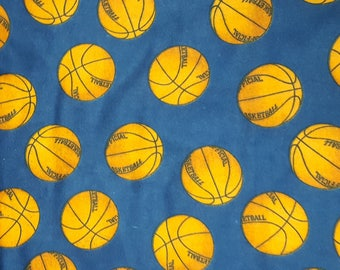 Basketball Fabric Cotton Flannel One Piece Almost A Yard