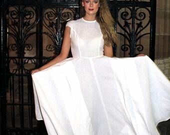 Linen maxi dress rustic country and boho wedding dress