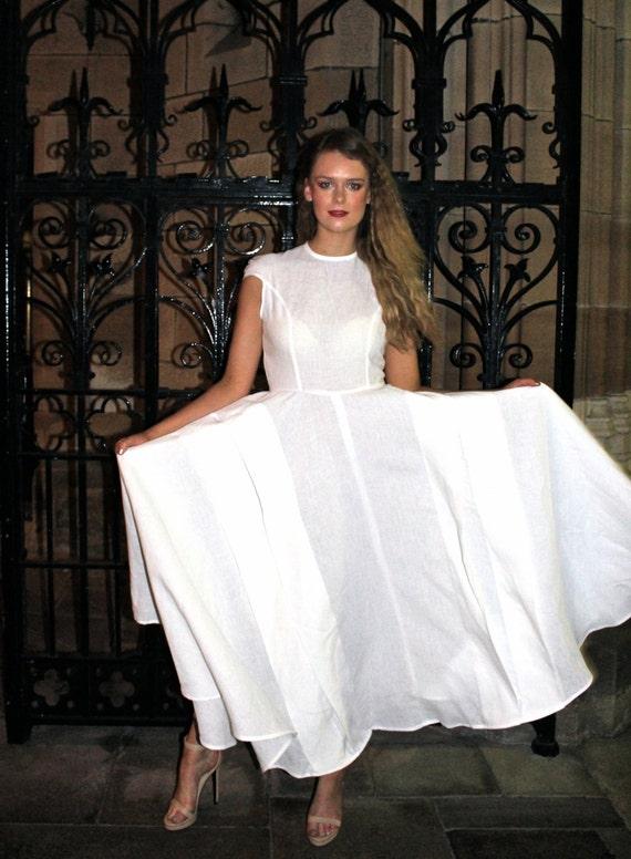 Leinen Hochzeitskleid Maxi-Leinen-Kleid Strand Brautkleid