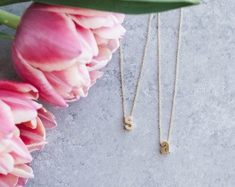 Initial Necklace, Initial Necklace Gold, Gold Initial Necklace, Initial Letter Necklace, Letter Necklace Gold, Gold Letter Necklace