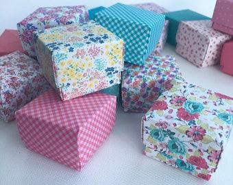100 mini origami favour boxes floral tea party