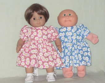 15 inch Doll Dress fits the American Girl Bitty Baby and Cabbage Patch Kids Dolls Daisies