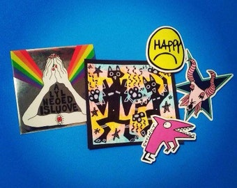 Deluxe Art & Stickers Pack 2 - DANCE MAGIC! - 4 stickers, 1 OOAK drawing