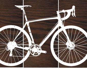 Synapse Hi-Mod Ultegra Disc  Road Bike / Street Bike Wall Art /  Bicycle Screen Print / Wood Painting Wall Art
