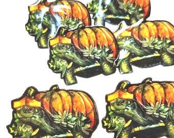 Pumpkin Turtle Lapel Pin Brooch Halloween