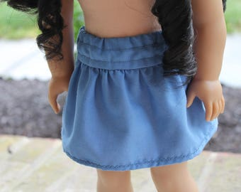 "18"" American Girl Doll blue skirt"