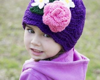 Crochet Panama hat - Christmas gift for her-  clouche hat - Little Girls Panama Hat -Toddler Panama Hat - Girls Cloche -Toddler Cloche