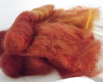 Artisan Shetland Blended Batts-Cherry Apricot