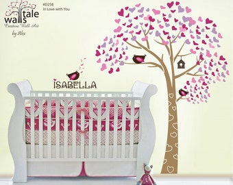 Tree wall decals - In Love with You tree wall decal for nursery.