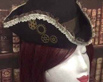 Mini Hat steampunk Victorian tricorn