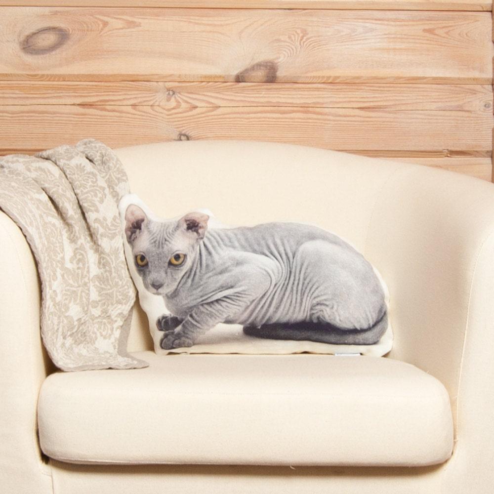 Sphynx Cat Pillow cat stuffed animal cat lovers gift