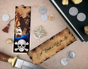 A Pirate's Life for Me Bookmark - Handmade