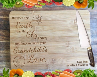 A Grandchild's Love...  Personalised Engraved Bamboo Chopping Board
