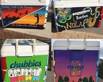 Fraternity Cooler | Custom Painted Cooler