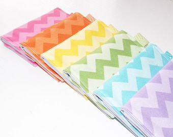 Chevron Business Card Holder - Wallet - Key-chain Wallet - Chevron Fabric