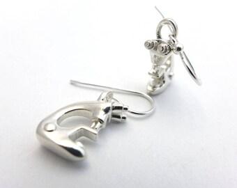 Microscope Earrings - Science Jewelry - Biology Jewelry - Silver Earrings for Scientist -Scientist Jewelry - Microbiology Gift