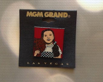 Wizard of Oz Dorothy metal pin from MGM Grand Las Vegas Mint on Card MOC Cloisonne Enamel