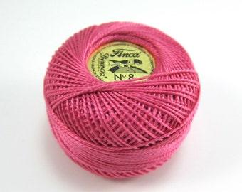 Finca Perle Cotton Thread Pearl Cotton - Medium Rose