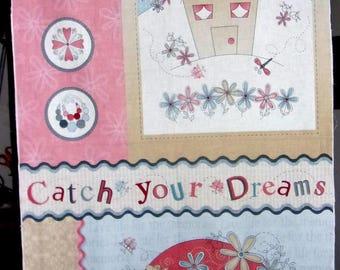Panneau Tissu coton Folk Art Américain