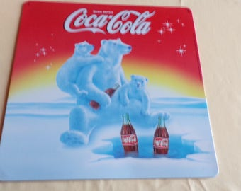 Decorative metal plate Coca Cola collector