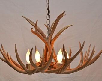 Antler chandelier etsy antler chandelier small 4 light aloadofball Choice Image