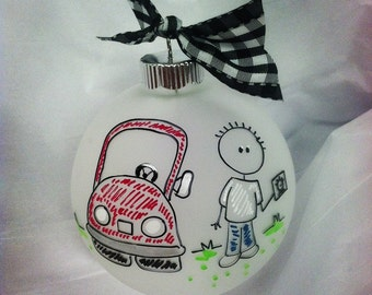 MY First CAR Christmas PERSONALIZED Ornament, Student Driver, New License, Teen, Sixteen