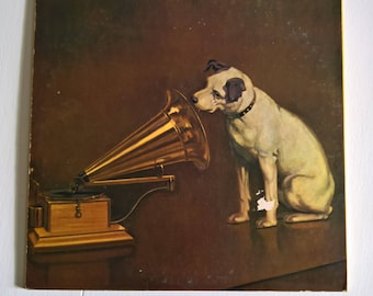 Vintage 60 Years of Music America Loves Best by RCA Victor Record --- Retro 1950's 1960's Vinyl Collection --- Antique Style Nipper Dog
