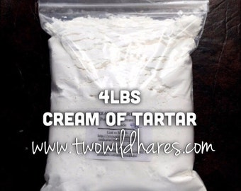 4lb CREAM of TARTAR, Bubble Bar Hardener, Potassium Bitartrate