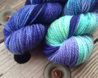 Northern Lights  on Freya 100% superwash BFL Aran Wt.