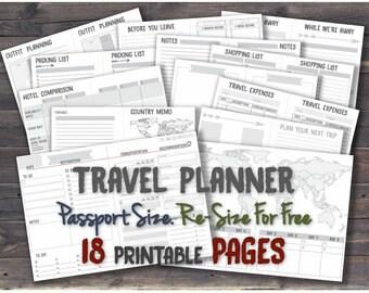 Midori passport inserts tn travelers notebook pocket insert journey planner printable template travel organizer _ Any Re-size is FREE