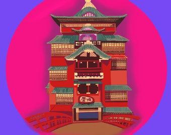Studio Ghibli, Spirited Away Bathhouse, digital file only