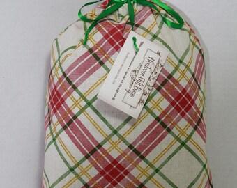 Cloth Gift Bags Fabric Gift Bags Medium Christmas Plaid Reusable Eco Friendly Gift Bags Gift Sacks