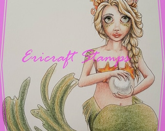 Digital Stamp - Sea Pearl - PNG image for cards and crafts by Erica Bruton