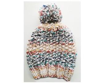 Gender Neutral Christmas Lights Pom-Pom Beanie/Adult Hat